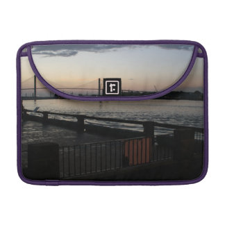 Savannah River on River Street Photo Sleeve For MacBook Pro