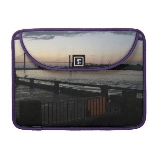 Savannah River on River Street Photo Sleeve For MacBooks