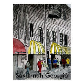 Savannah River Street 4 Postcard