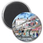 savannah_river_street_painting, Savannah GA Riv... Refrigerator Magnet