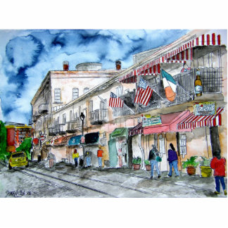 savannah_river_street_painting standing photo sculpture