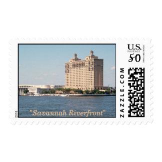 """Savannah Riverfront"" Postage"