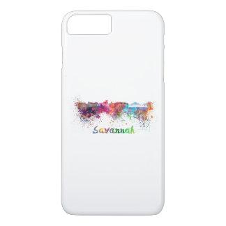 Savannah skyline in watercolor iPhone 7 plus case