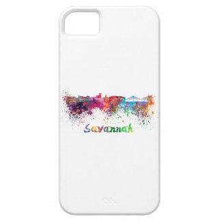 Savannah skyline in watercolor iPhone SE/5/5s case