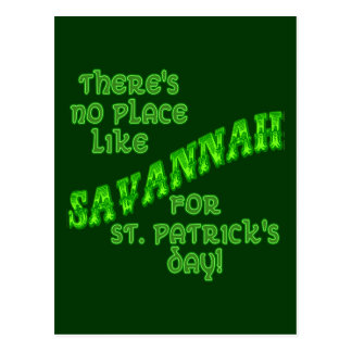 SAVANNAH St Patricks Day Postcard
