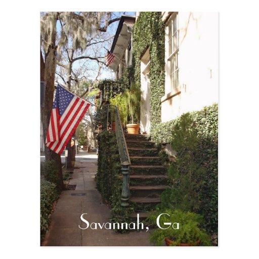Savannah Staircase Postcard