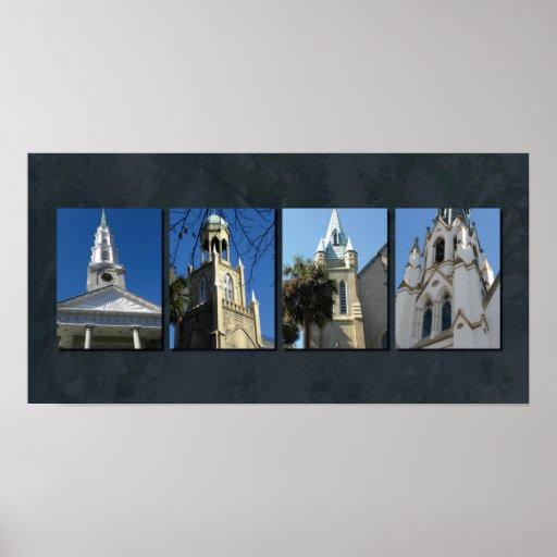 Savannah steeples poster