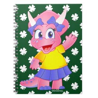 Savannah Dino Cartoon Notebook (Shamrock)