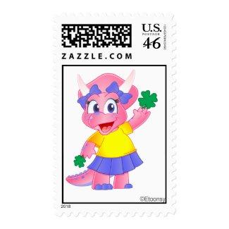 Savannah Dino St. Patrick's Day Postage Stamp
