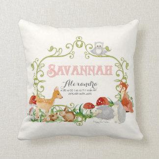 Savannah Top 100 Baby Names Girls Nursery Throw Throw Pillow