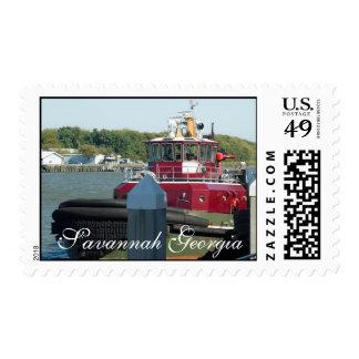 Savannah Tugboat Postage