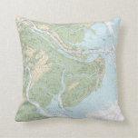 Savannah-Tybee Island Nautical Chart Pillow