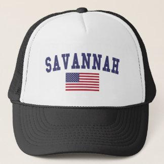 Savannah US Flag Trucker Hat