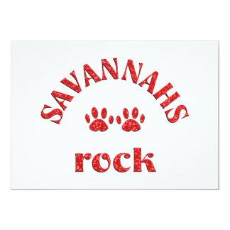 Savannahs Rock Card