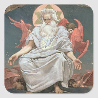 Savaoph, God the Father, 1885-96 Square Sticker