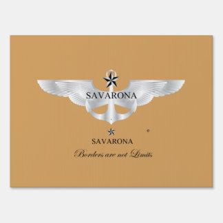 Savarona Logo, Medium, 18x24inch Yard Sign