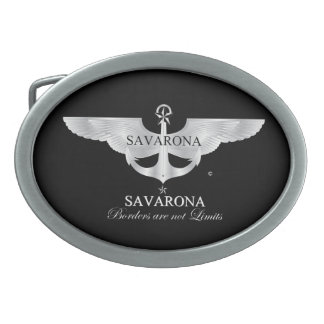 Savarona Logo Oval Belt Buckle