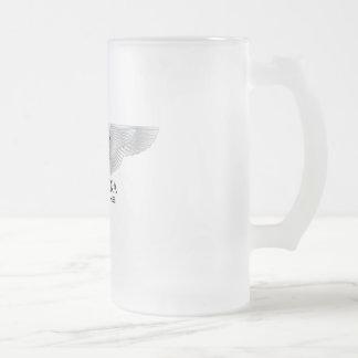 Savarona Neptune Logo 16oz Frosted Glass Mug