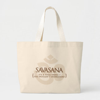 Savasana es una cosa de la yoga que usted no enten bolsa tela grande
