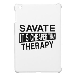 SAVATE IT IS CHEAPER THAN THERAPY iPad MINI CASES