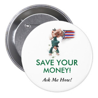 save100aweek.com pinback button