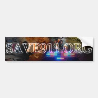 SAVE911.ORG Bumper Sticker Car Bumper Sticker
