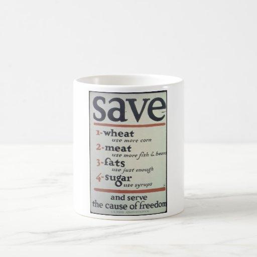 Save._1-WHEAT_use_more_Propaganda Poster Coffee Mug