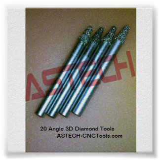 Save 40 -3D Diamond Tools for Stone CNC Router Poster