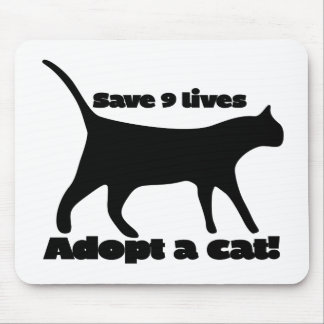 Save 9 lives adopt a cat mouse pad