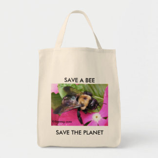 Save a Bee, Save the Planet Tote Bag
