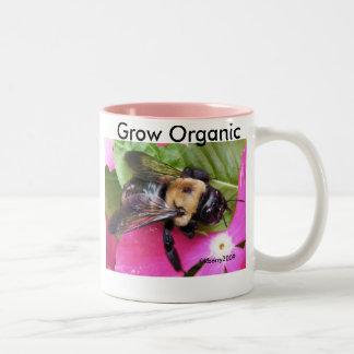 Save A Bee, Save the Planet! Two-Tone Coffee Mug