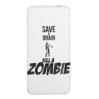 Save a brain Kill a zombie iPhone SE/5/5s/5c Pouch