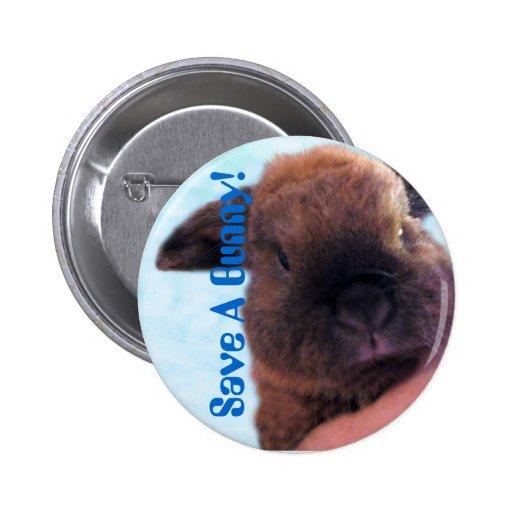 Save A Bunny! Button