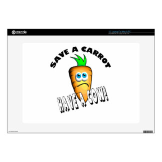 """SAVE A CARROT - HAVE A COW 15"""" LAPTOP SKIN"""