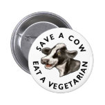 Save A Cow 2 Inch Round Button