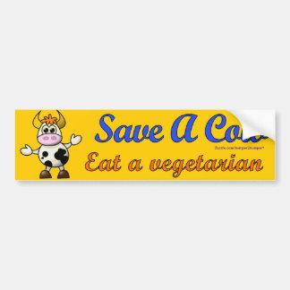 Save A Cow Bumper Sticker