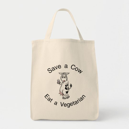 Save a Cow Eat A Vegetarian Tote Bag