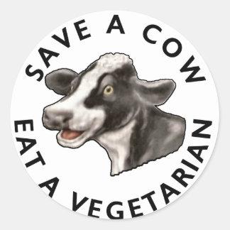 Save A Cow Sticker