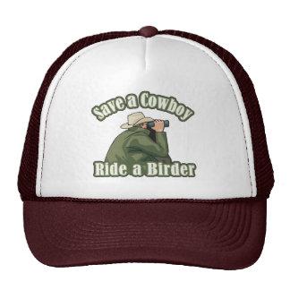 Save a Cowboy... Ride a Birder Trucker Hat
