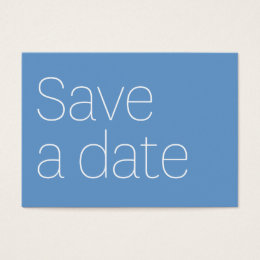 SAVE A DATE WITH ME. BUSINESS CARD