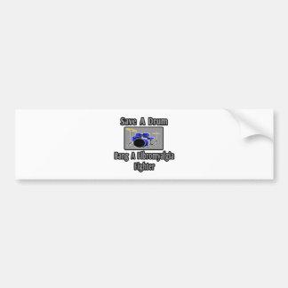 Save a Drum...Bang a Fibromyalgia Fighter Car Bumper Sticker