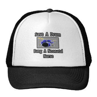 Save a Drum...Bang a Neonatal Nurse Trucker Hat