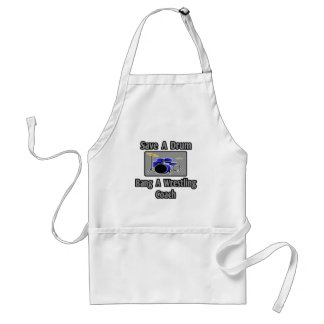 Save a Drum...Bang a Wrestling Coach Adult Apron