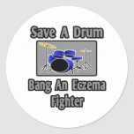 Save a Drum...Bang an Eczema Fighter Stickers