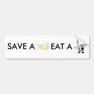 save a fish... bumper sticker