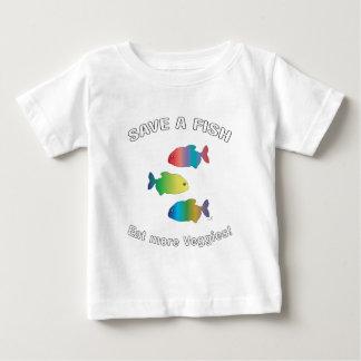 SAVE A FISH - Eat more Veggies Baby T-Shirt