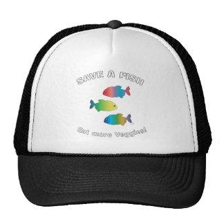 SAVE A FISH - Eat more Veggies Trucker Hat