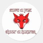 Save a fox - shoot a hunter sticker