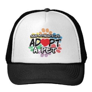 Save A Friend Adopt A Pet Hats