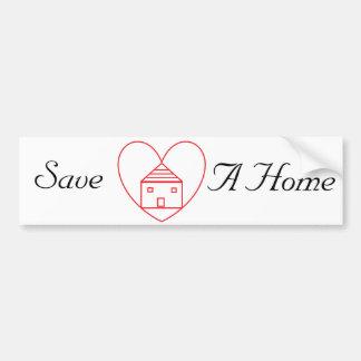 Save A Home Bumper Sticker